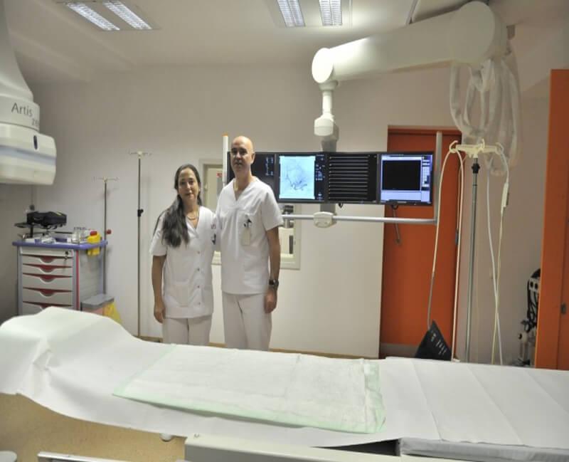 Cu Prof. Katerina Malagari, expert international in chemoembolizari hepatice cu microsfere (Spitalul Sanador, dec. 2012)