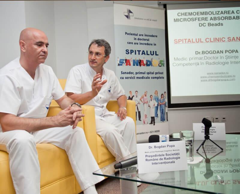 Primele interventii hepatice cu microsfere din Romania (2012)